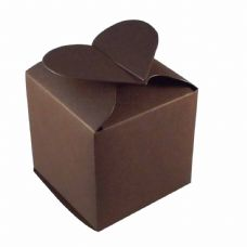 Brown Heart Top Designer Favour Boxes